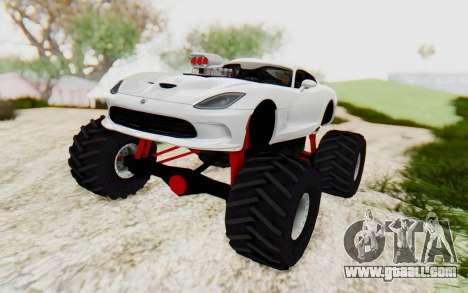 Dodge Viper SRT GTS 2012 Monster Truck for GTA San Andreas