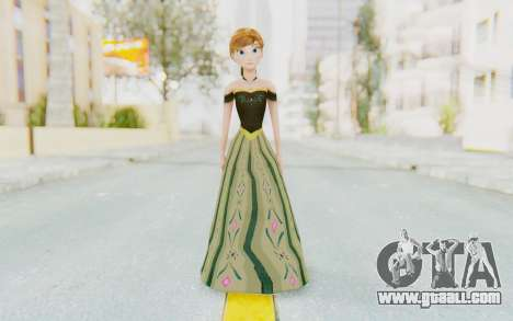 Frozen - Anna Coronation Dress for GTA San Andreas second screenshot