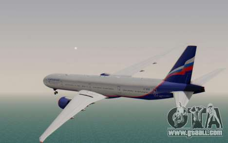 Boeing 777-300ER Aeroflot for GTA San Andreas left view
