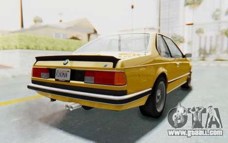 BMW M635 CSi (E24) 1984 HQLM PJ2 for GTA San Andreas left view