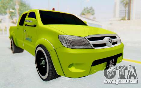 Toyota Hilux Malaysia Airports Green for GTA San Andreas right view