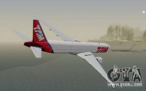 Boeing 777-300ER TAM linhas Aéreas for GTA San Andreas left view