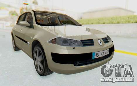 Renault Megane 2 for GTA San Andreas back left view