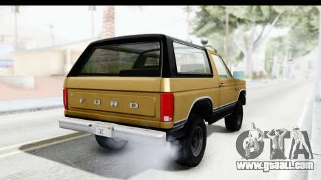Ford Bronco 1980 Roof IVF for GTA San Andreas left view