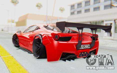 Ferrari 458 Liberty Walk for GTA San Andreas left view