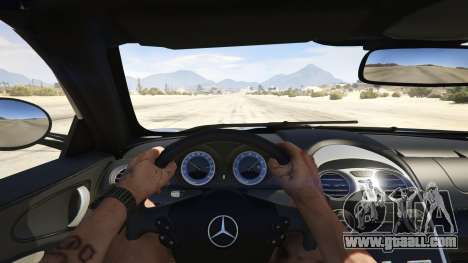 GTA 5 Mercedes-Benz SLR 722s Roadster & Mansory back view
