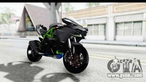 Kawasaki Ninja H2R Black for GTA San Andreas right view