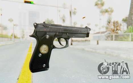 Tariq Iraqi Pistol Back v1 Silver for GTA San Andreas second screenshot