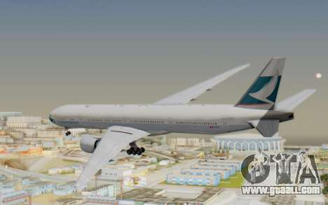 Boeing 777-300ER Cathay Pacific Airways v1 for GTA San Andreas right view
