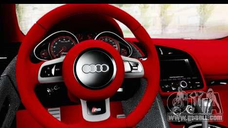 Audi R8 5.2 V10 Plus LB Walk for GTA San Andreas right view