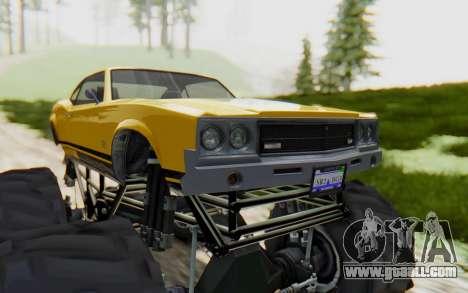 Declasse Sabre Turbo XL for GTA San Andreas back view