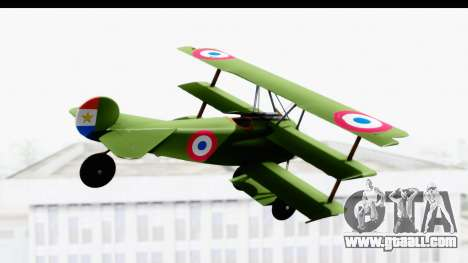 Fokker DR1 Old Paraguay Air Force for GTA San Andreas right view