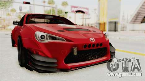 Toyota GT86 Drift Edition for GTA San Andreas right view