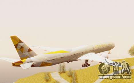 Boeing 777-300ER Etihad Airways for GTA San Andreas right view