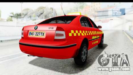 Skoda Superb Red Taxi for GTA San Andreas left view