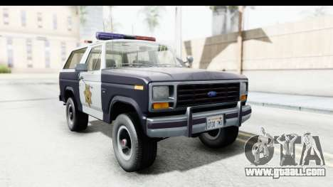 Ford Bronco 1982 Police for GTA San Andreas