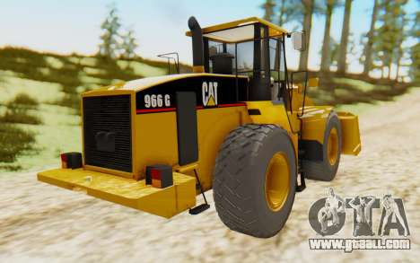 Caterpillar 966 GII for GTA San Andreas back left view