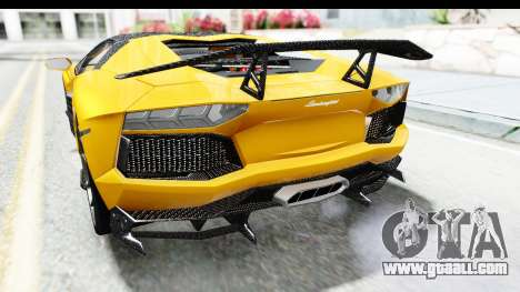 Lamborghini Aventador LP700-4 LB Walk for GTA San Andreas bottom view