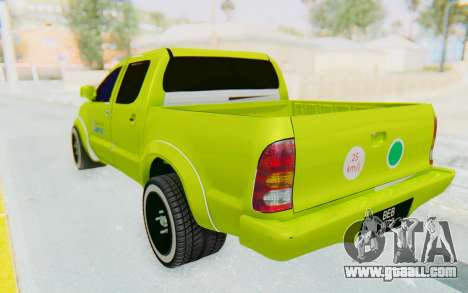 Toyota Hilux Malaysia Airports Green for GTA San Andreas left view