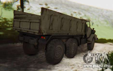 MGSV Phantom Pain Zi-GRA 6T Truck for GTA San Andreas back left view