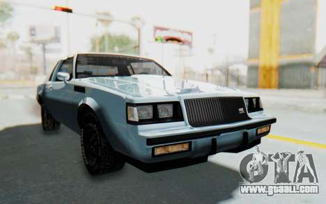 Buick GNX 1987 for GTA San Andreas right view