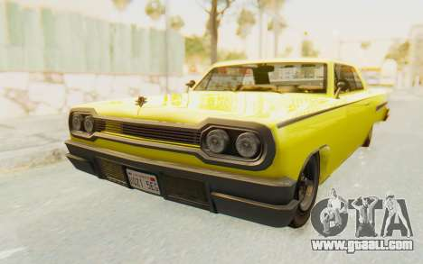 GTA 5 Declasse Voodoo for GTA San Andreas right view