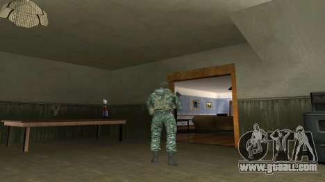 The airborne soldier in camouflage birch for GTA San Andreas second screenshot