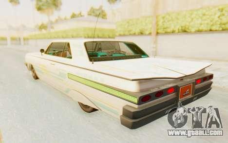 GTA 5 Declasse Voodoo for GTA San Andreas wheels