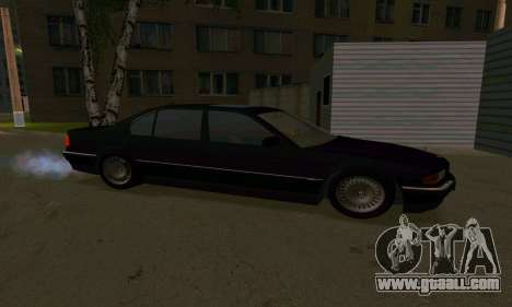 BMW 740i E38 for GTA San Andreas back view