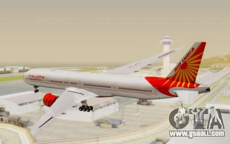 Boeing 777-300ER India Air for GTA San Andreas left view