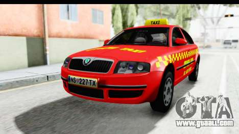 Skoda Superb Red Taxi for GTA San Andreas right view
