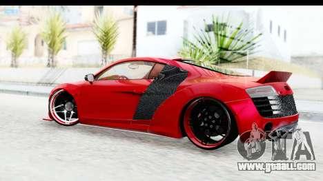 Audi R8 5.2 V10 Plus LB Walk for GTA San Andreas left view