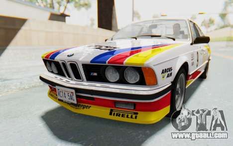 BMW M635 CSi (E24) 1984 HQLM PJ1 for GTA San Andreas bottom view