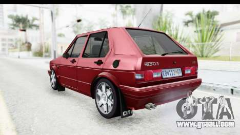 Volkswagen Golf VeloCiti 2008 Updated for GTA San Andreas back left view