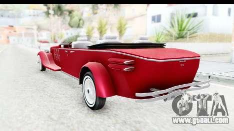 Unique V16 Phaeton for GTA San Andreas