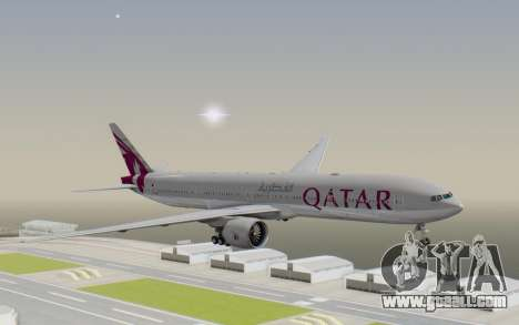 Boeing 777-300ER Qatar Airways v1 for GTA San Andreas back left view