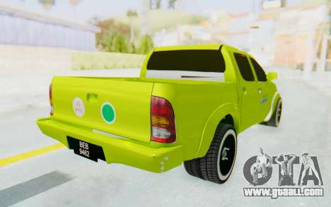 Toyota Hilux Malaysia Airports Green for GTA San Andreas back left view