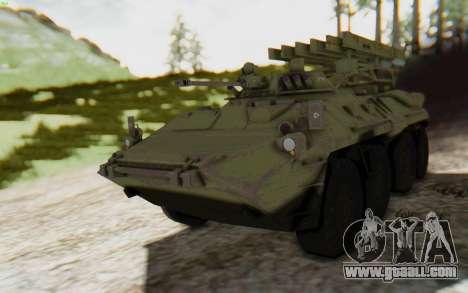 MGSV Phantom Pain ZHUK APC Tank for GTA San Andreas back left view