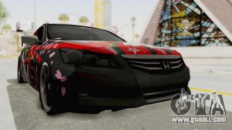 Honda Accord 2011 Hatsune Miku Senbonzakura for GTA San Andreas right view