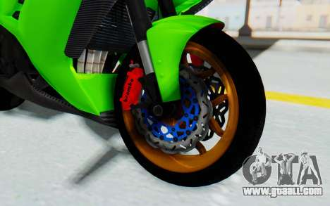 Kawasaki Ninja 250 Abs Streetrace for GTA San Andreas back view