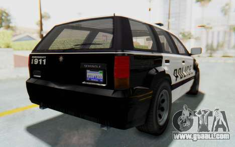 Canis Seminole Police Car for GTA San Andreas back left view