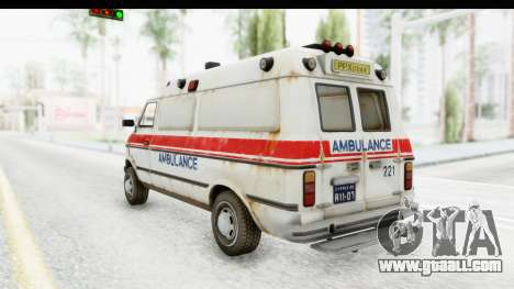 MGSV Phantom Pain Ambulance for GTA San Andreas left view