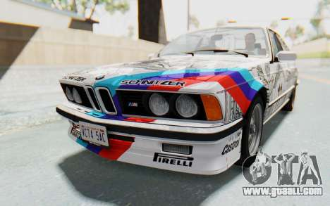 BMW M635 CSi (E24) 1984 HQLM PJ1 for GTA San Andreas side view