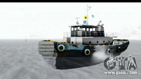 GTA 5 Buckingham Tug Boat v1 for GTA San Andreas right view