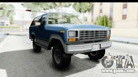 Ford Bronco 1980 for GTA San Andreas
