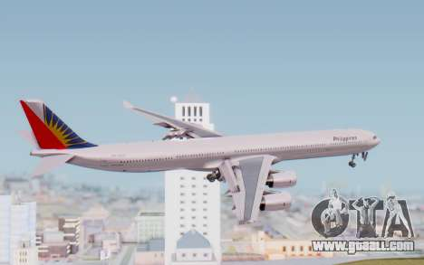 Airbus A340-600 Philippine Airlines for GTA San Andreas right view