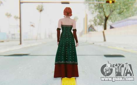 The Witcher 3 - Triss Merigold Dress for GTA San Andreas third screenshot