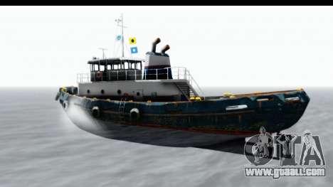 GTA 5 Buckingham Tug Boat v1 for GTA San Andreas back left view