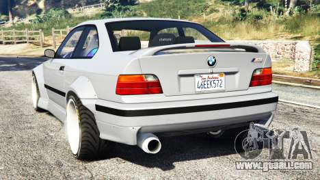 GTA 5 BMW M3 (E36) Street Custom rear left side view