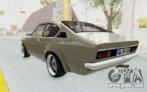 Opel Kadett C Coupe for GTA San Andreas left view